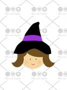 Cortador de Biscoito Bruxa ou Bruxinha (Tema Halloween)