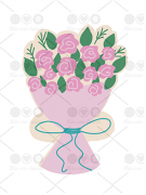 Cortador de Biscoito Buquê de Flores Dia das Mães