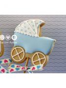 Cortador de Biscoito Carrinho de Neném (Tema Batizado ou Chá de Bebê)