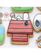 Cortador de Biscoito Casa com Snoopy