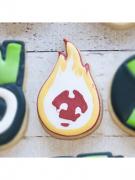 Cortador de Biscoito Chama de Fogo (Tema Ben 10)
