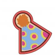 Cortador de Biscoito chapéu de Aniversário mini