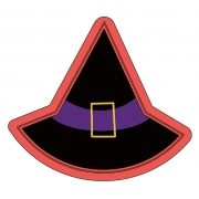 Cortador de Biscoito chapéu de bruxa mini