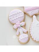 Cortador de Biscoito Chocalho de Neném (Tema Batizado ou Chá de Bebê)