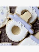 Cortador de Biscoito Chupeta de Neném (Tema Batizado ou Chá de Bebê)