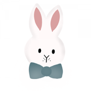 Cortador de Biscoito coelho gravata