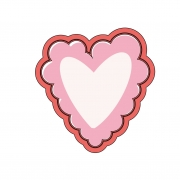 Cortador de Biscoito Coração com rendinha