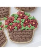 Cortador De Biscoito Cupcake ou Cesta de Flores (Tema Jardim)