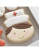 Cortador de Biscoito Enfermeira ou Boneco de Neve Rosto (Tema Hospital)