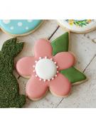 Cortador de Biscoito Flor com Folha (Tema Jardim)