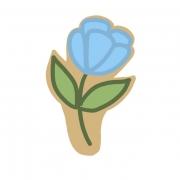Cortador de Biscoito Flor Haste 1