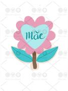 Cortador de Biscoito Flor para Dia das Mães
