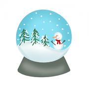 Cortador de Biscoito Globo de Neve (Tema Natal)