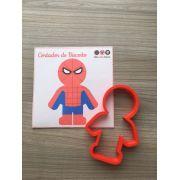Cortador de Biscoito Homem Aranha ou Homem de Ferro ou Hulk (Vingadores/ Avengers - Super Herói da Marvel)