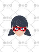 Cortador de Biscoito Lady Bug - Menina com cabelo preso (Tema Miraculous)