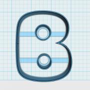 Cortador de Biscoito Letra B (Alfabeto)