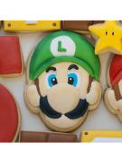 Cortador de Biscoito Luigi (Rosto) (Tema Mario Bros)