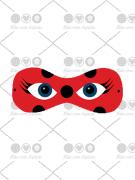 Cortador de Biscoito Máscara da Lady Bug (Tema Miraculous)