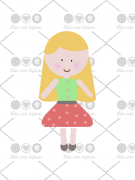 Cortador de Biscoito Menina/ Boneca de Cabelo Comprido