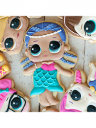 Cortador de Biscoito Merbaby (Menina/ Bonequinha Sereia) (Tema Boneca LOL Surprise)