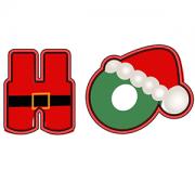 Cortador de Biscoito Palavra ''HO HO HO'' de Natal