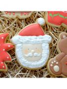 Cortador de Biscoito Papai Noel 02 (Rosto) (Tema Natal)