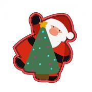 Cortador de Biscoito Papai Noel com árvore de Natal