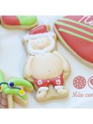 Cortador de Biscoito Papai Noel de Verão (Tema Natal)