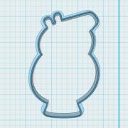 Cortador de Biscoito Papai Pig (Tema Peppa Pig)