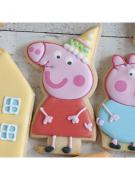 Cortador de Biscoito Peppa Pig com chapéu de Aniversario