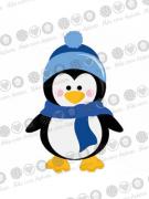 Cortador De Biscoito Pinguim com Cachecol