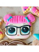 Cortador de Biscoito Teacher's Pet/ Bon Bon  (Rosto) (Menina/ Bonequinha com coques) (Tema Boneca LOL Surprise)