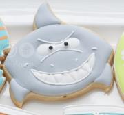 Cortador de Biscoito Tubarão (Rosto) (Tema Praia ou Fundo do Mar)