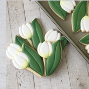 Cortador de Biscoito tulipa com folha