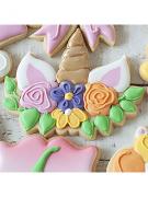 Cortador De Biscoito Unicórnio Chifre com Flores