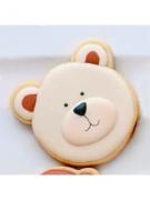Cortador de Biscoito Urso 03 (Rosto) (Tema Batizado ou Chá de Bebê)