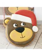 Cortador de Biscoito Urso com gorro de Natal (Rosto)
