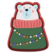 Cortador de Biscoito Urso Polar de natal