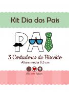 Kit de Cortadores de Biscoito Dia dos Pais