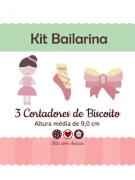 Kit de Cortadores de Biscoito Tema Bailarina