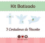 Kit de Cortadores de Biscoito Tema Batizado