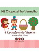 Kit de Cortadores de Biscoito Tema Chapeuzinho Vermelho