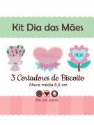 Kit de Cortadores de Biscoito Tema Dia das Mães