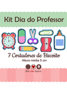 Kit de Cortadores de Biscoito Tema Dia do Professor