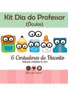 Kit de Cortadores de Biscoito Tema Dia do Professor - Óculos