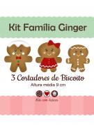 Kit de Cortadores de Biscoito Tema Família Ginger (Bonequinhos de Gengibre)