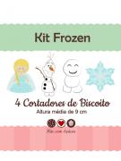 Kit de Cortadores de Biscoito Tema Frozen (Princesa Elsa)