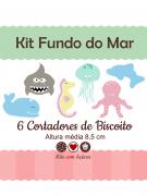 Kit de Cortadores de Biscoito Tema Fundo do Mar