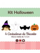 Kit de Cortadores de Biscoito Tema Halloween