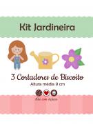 Kit de Cortadores de Biscoito Tema Jardineira